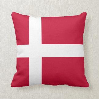 Almofada Travesseiro decorativo da bandeira de Dinamarca