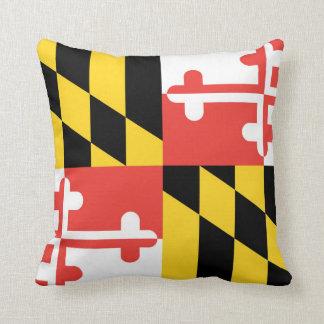 Almofada Travesseiro decorativo da bandeira de Maryland