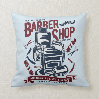 Almofada Travesseiro decorativo da barbearia do vintage