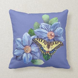Almofada Travesseiro decorativo da borboleta da aguarela