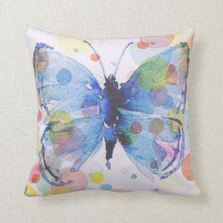 Almofada Travesseiro decorativo da borboleta da cor de água