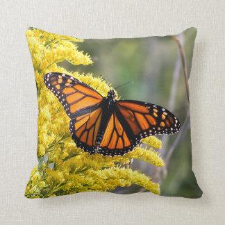 Almofada Travesseiro decorativo da borboleta de monarca