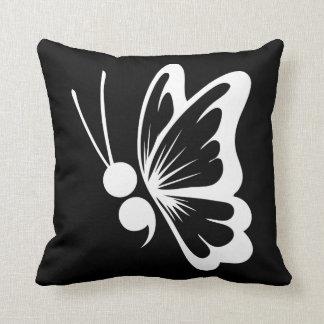Almofada Travesseiro decorativo da borboleta do Semicolon