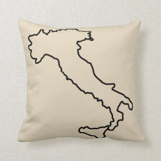 Almofada Travesseiro decorativo da bota do mapa de Italia