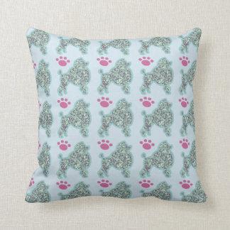 Almofada Travesseiro decorativo da caniche e da pata