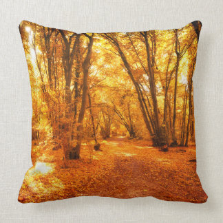 Almofada Travesseiro decorativo da cena da floresta em