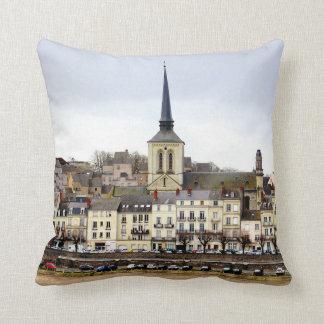 Almofada Travesseiro decorativo da cena do banco de rio de