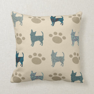 Almofada Travesseiro decorativo da chihuahua e da pata