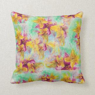 Almofada Travesseiro decorativo da colagem do lírio