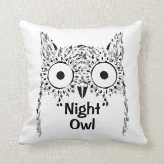 Almofada Travesseiro decorativo da coruja de noite