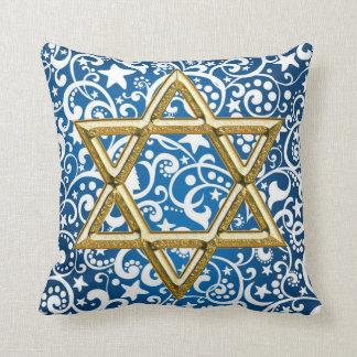 Almofada travesseiro decorativo da estrela de David