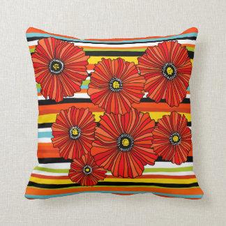 Almofada Travesseiro decorativo da flor da papoila da