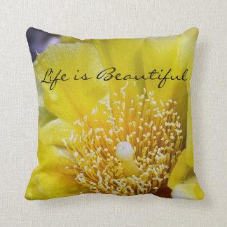 Almofada Travesseiro decorativo da flor do cacto de pera