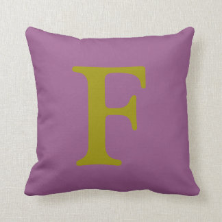 Almofada Travesseiro decorativo da letra F