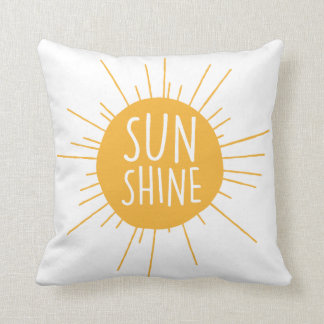 Almofada Travesseiro decorativo da luz do sol
