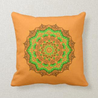 Almofada travesseiro decorativo da mandala da arte 3D