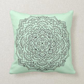 Almofada Travesseiro decorativo da mandala da flor da