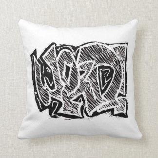 Almofada Travesseiro decorativo da palavra dos grafites