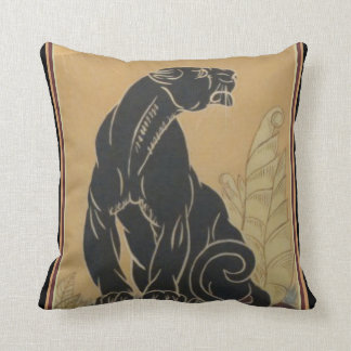 "Almofada ""Travesseiro decorativo da pantera preta"" do art"
