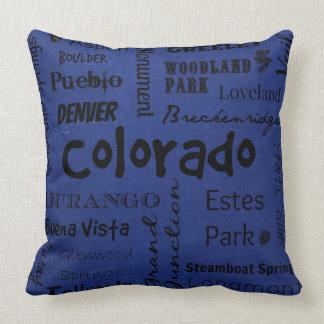 Almofada Travesseiro decorativo da tipografia das cidades