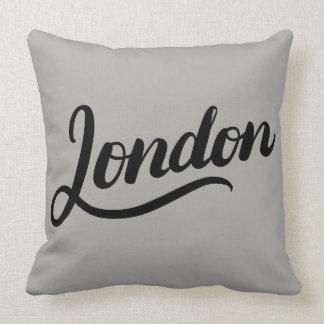 Almofada Travesseiro decorativo da tipografia de Londres