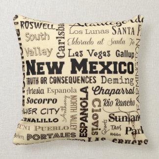 Almofada Travesseiro decorativo da tipografia de New mexico