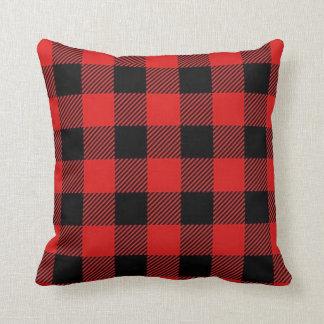Almofada Travesseiro decorativo da xadrez do búfalo
