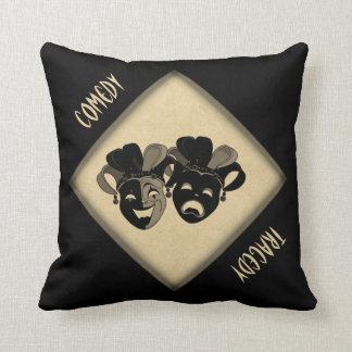 Almofada Travesseiro decorativo das máscaras do teatro da