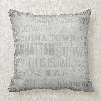 Almofada Travesseiro decorativo das palavras chaves de New