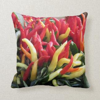 Almofada Travesseiro decorativo das pimentas de pimentão