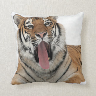 Almofada travesseiro decorativo de bocejo do tigre