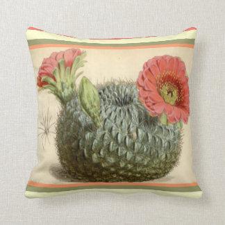 Almofada Travesseiro decorativo de florescência do cacto do