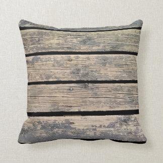 Almofada Travesseiro decorativo de madeira do assoalho