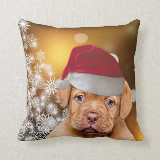 Almofada Travesseiro decorativo de Natal Dogue de Bordéus