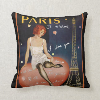 Almofada Travesseiro decorativo de Paris do art deco