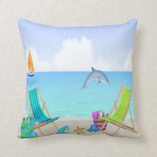 Almofada Travesseiro decorativo de relaxamento da praia