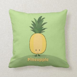 Almofada Travesseiro decorativo de sorriso do abacaxi |