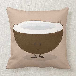 Almofada Travesseiro decorativo de sorriso do coco |