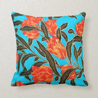 "Almofada ""Travesseiro decorativo de turquesa das tulipas"
