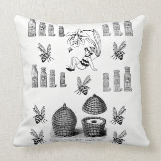 Almofada Travesseiro decorativo decorativo branco do preto