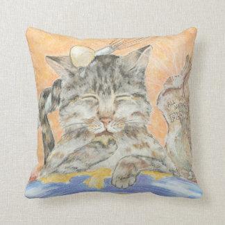 Almofada Travesseiro decorativo desarrumado da arte dos