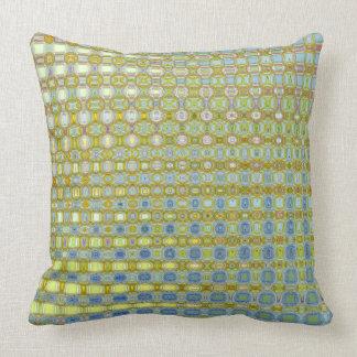 Almofada Travesseiro decorativo do algodão do botão de ouro
