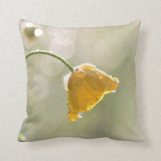 Almofada Travesseiro decorativo do botão de ouro da manhã