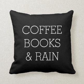 Almofada Travesseiro decorativo do café, dos livros e da