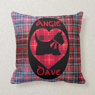 Almofada Travesseiro decorativo do cão de Scotty do coração