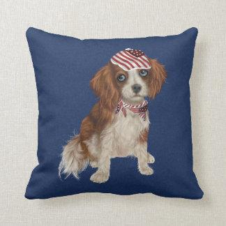 Almofada Travesseiro decorativo do cão patriótico