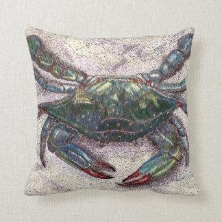Almofada Travesseiro decorativo do caranguejo azul de baía