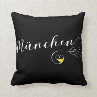 Almofada Travesseiro decorativo do coração de München,
