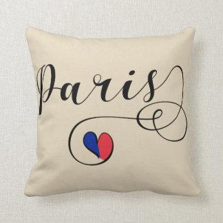 Almofada Travesseiro decorativo do coração de Paris, France