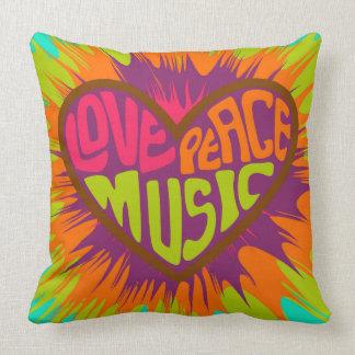 Almofada Travesseiro decorativo do coração do Hippie da